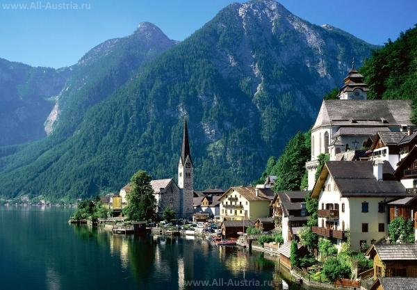 Неописуемой красоты озера и прибрежные городки Австрии