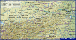 Города на карте Австрии