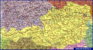 Подробная карта Австрии на Русском языке
