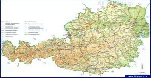 Карта дорог Австрии