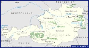 Карта национальных парков Австрии