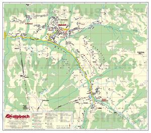 Туристическая карта курорта Альпбах с отелями