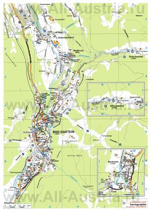 Туристическая карта курорта Бад-Гаштайн