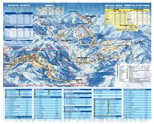 Подробная карта горнолыжного курорта Бад-Хофгаштайн с трассами