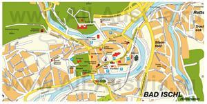 Подробная карта города Бад-Ишль с достопримечательностями
