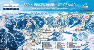 Подробная карта горнолыжного курорта Бад-Кляйнкирххайм с трассами