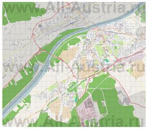 Подробная карта города Браунау-на-Инне