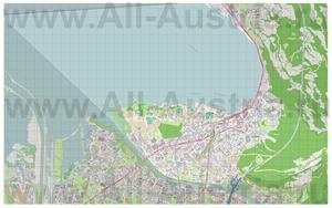 Подробная карта города Брегенц