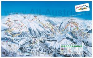 Подробная карта горнолыжного курорта Цель-ам-Циллер с трассами