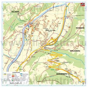 Туристическая карта Цель-ам-Циллера с отелями