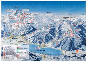 Подробная карта горнолыжного курорта Цель-ам-Зее с трассами
