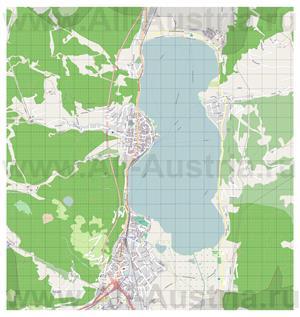 Подробная карта города Цель-ам-Зее