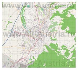 Подробная карта города Дорнбирн