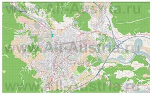 Подробная карта города Филлах