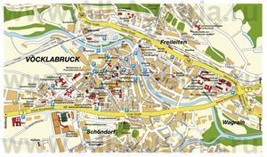 Подробная карта города Фёклабрук с достопримечательностями