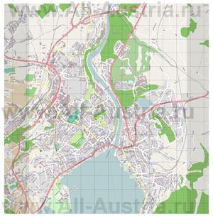 Подробная карта города Гмунден