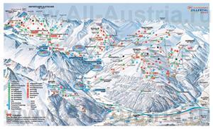Туристическая карта горнолыжного курорта Хинтертукс