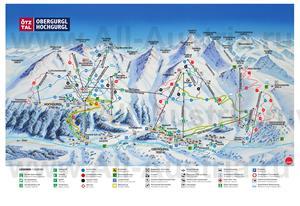 Туристическая карта горнолыжного курорта Хохгургль