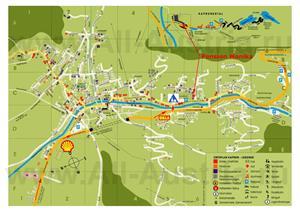 Туристическая карта Капруна с отелями