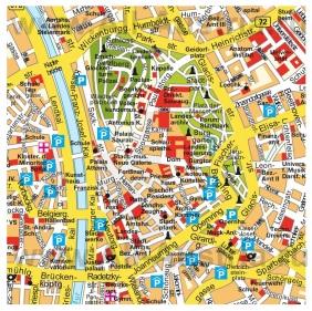 Карта Граца с достопримечательностями
