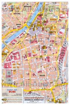 Туристическая карта города Инсбрук