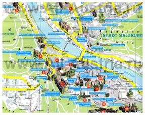 Туристическая карта Зальцбурга