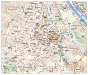 Карта Вены на русском языке с районами