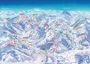 Подробная карта горнолыжного курорта Китцбюэль с трассами