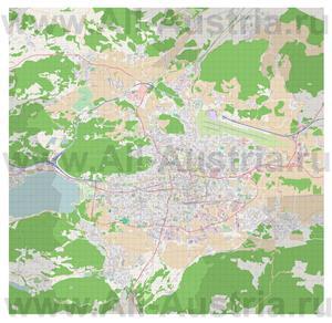 Подробная карта города Клагенфурт