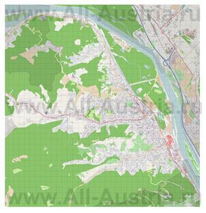Подробная карта города Клостернойбург