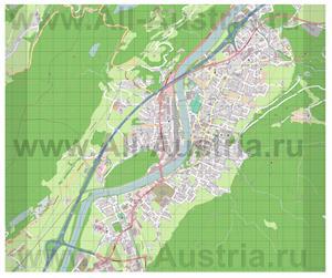 Подробная карта города Куфштайн