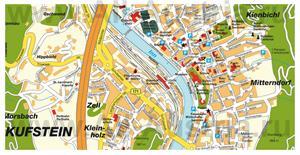 Туристическая карта Куфштайна с достопримечательностями