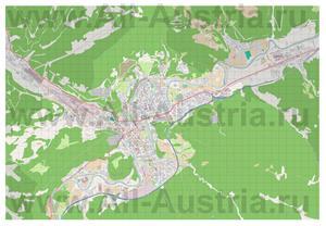Подробная карта города Леобен