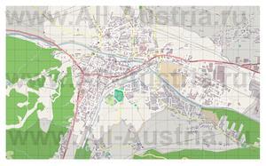 Подробная карта города Лиенц
