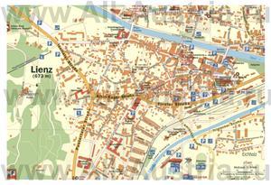 Туристическая карта Лиенца с достопримечательностями
