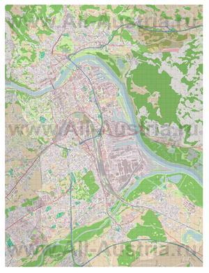 Подробная карта города Линц