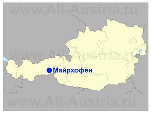 Майрхофен на карте Австрии