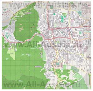 Подробная карта города Мёдлинг