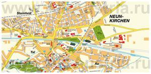 Туристическая карта Нойнкирхена с достопримечательностями