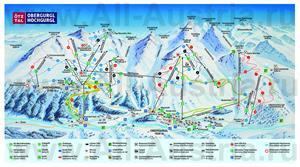 Туристическая карта горнолыжного курорта Обергургль