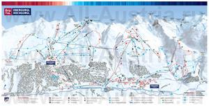 Туристическая карта курорта Обергургль с отелями и ресторанами