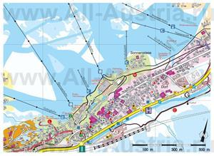 Туристическая карта горнолыжного курорта Санкт-Антон