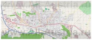 Подробная карта города Штоккерау