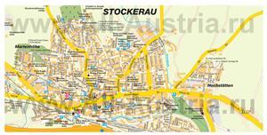 Туристическая карта Штоккерау с достопримечательностями