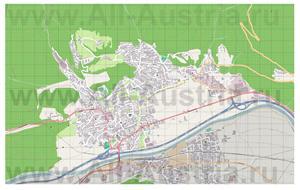 Подробная карта города Тельфс