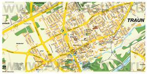 Туристическая карта Трауна с достопримечательностями