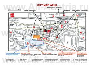 Карта Вельса с отелями