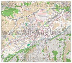 Подробная карта города Вельс