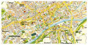 Туристическая карта Вельса с достопримечательностями