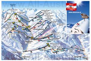 Карта горнолыжного курорта Зальбах-Хинтерглемм со спусками